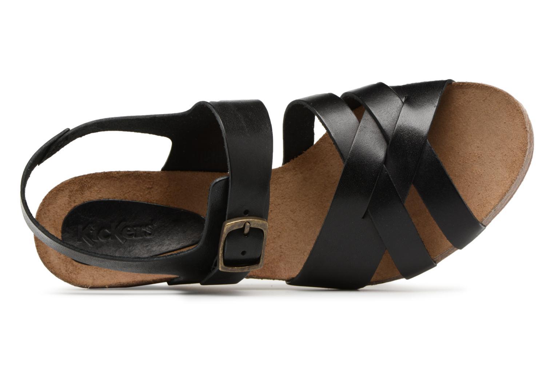 Sandales et nu-pieds Kickers Spicy Noir vue gauche