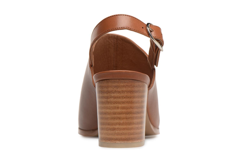 Sandales et nu-pieds Georgia Rose Ezabia Marron vue droite