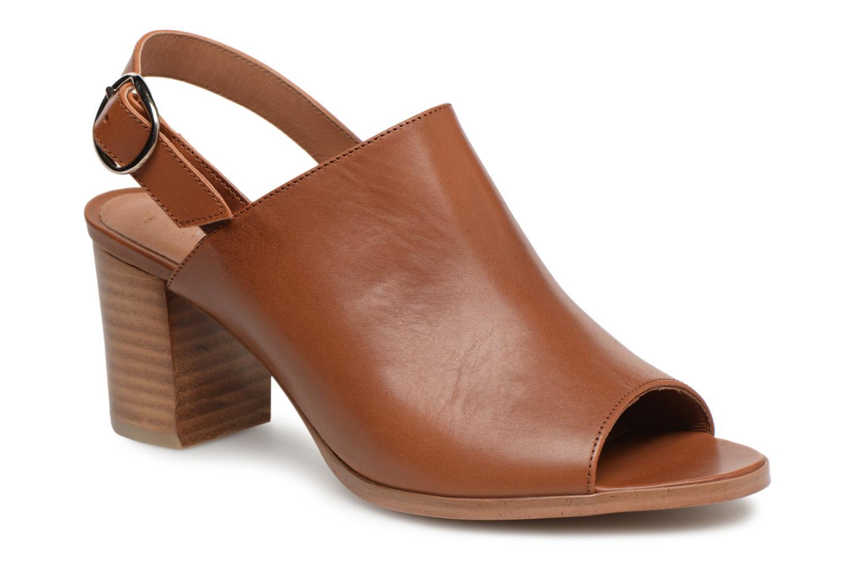 Sandales et nu-pieds Georgia Rose Ezabia Marron vue détail/paire
