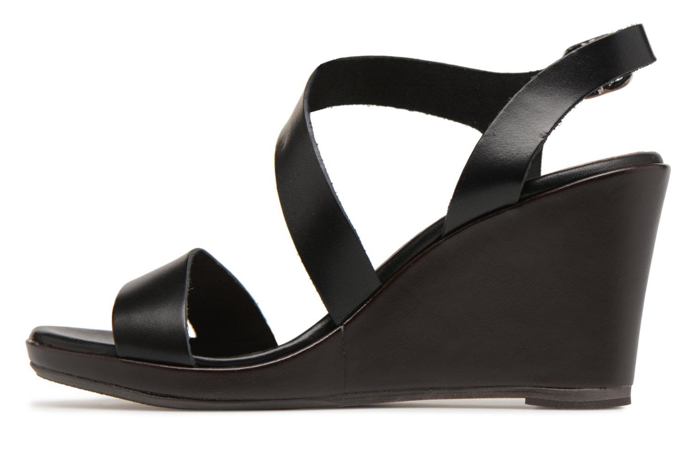 Sandales et nu-pieds Georgia Rose Esbloca Noir vue face