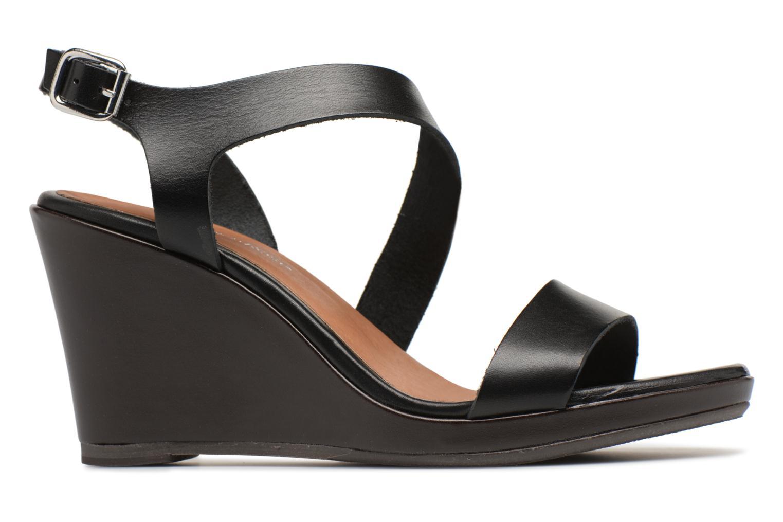 Sandales et nu-pieds Georgia Rose Esbloca Noir vue derrière