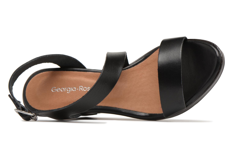 Sandales et nu-pieds Georgia Rose Esbloca Noir vue gauche