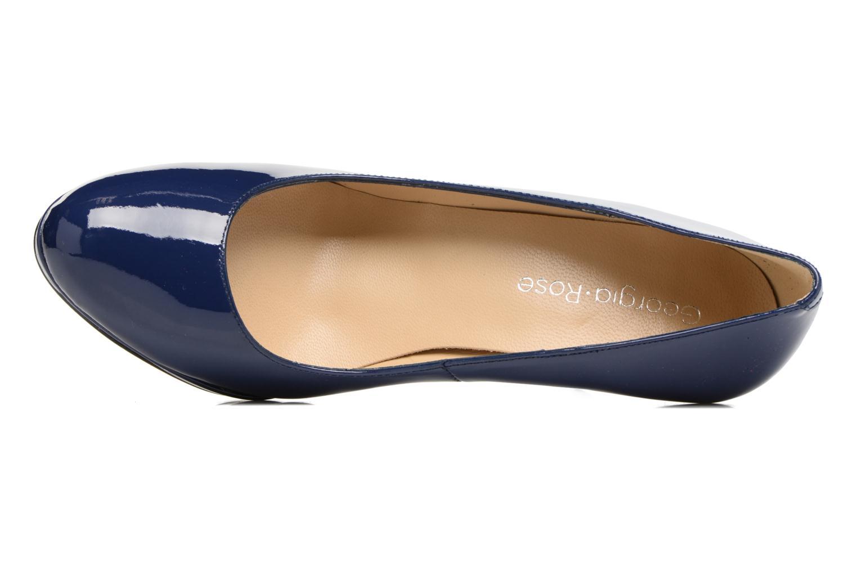 Escarpins Georgia Rose Serpatin Bleu vue gauche