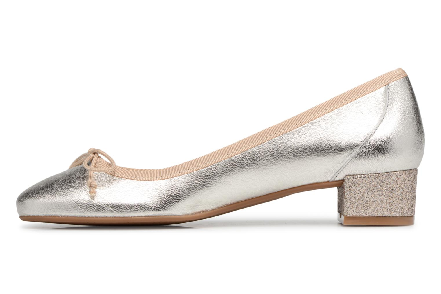 Ballet pumps Georgia Rose Soleil Bronze and Gold front view