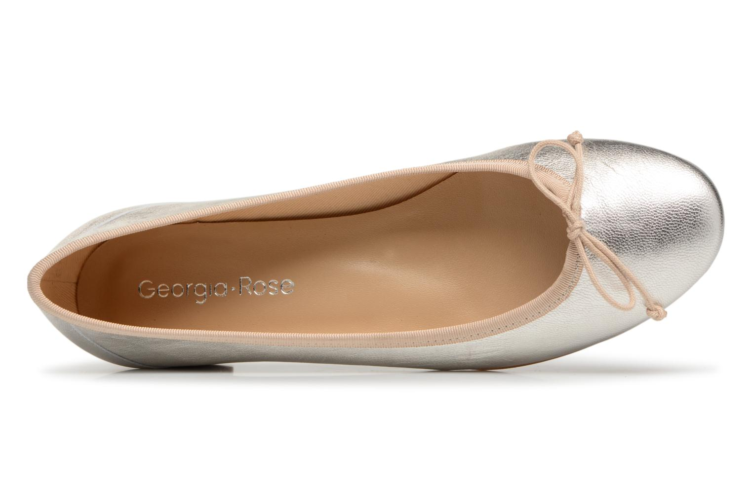 Ballet pumps Georgia Rose Soleil Bronze and Gold view from the left
