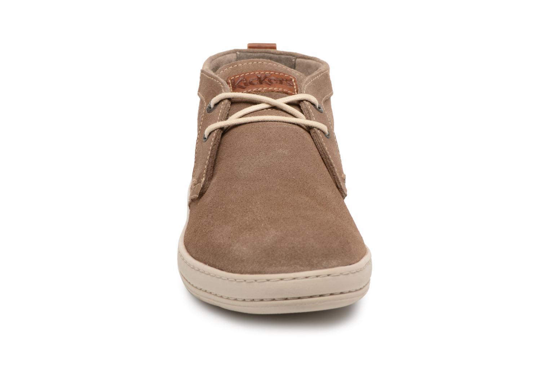Bottines et boots Kickers Snaper Gris vue portées chaussures