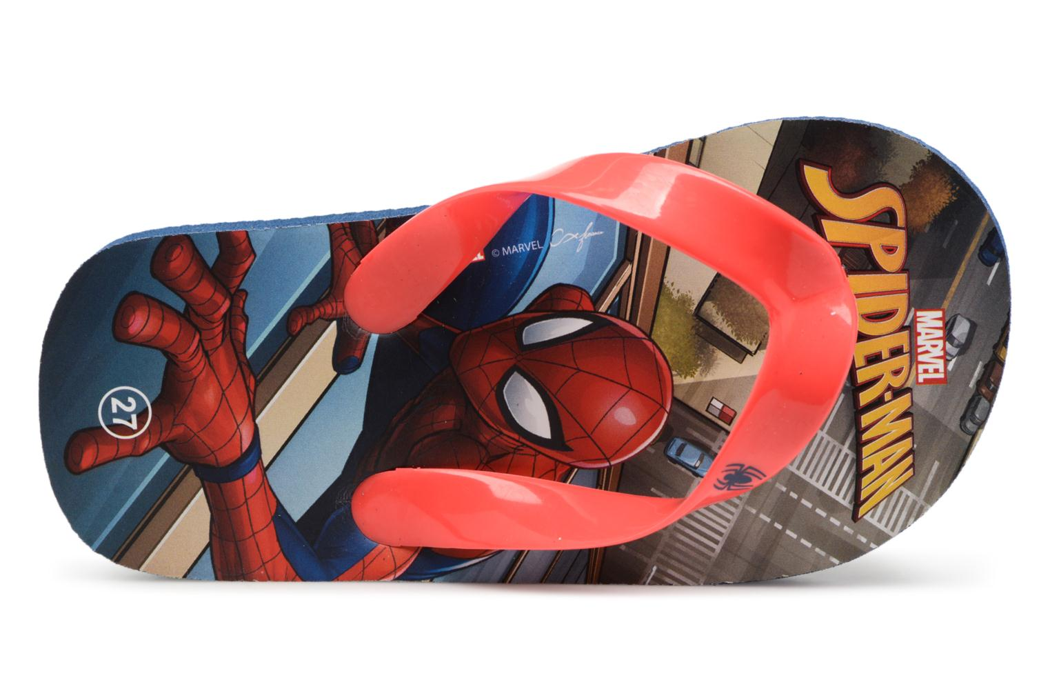 Tongs Spiderman Dispo Rouge vue gauche