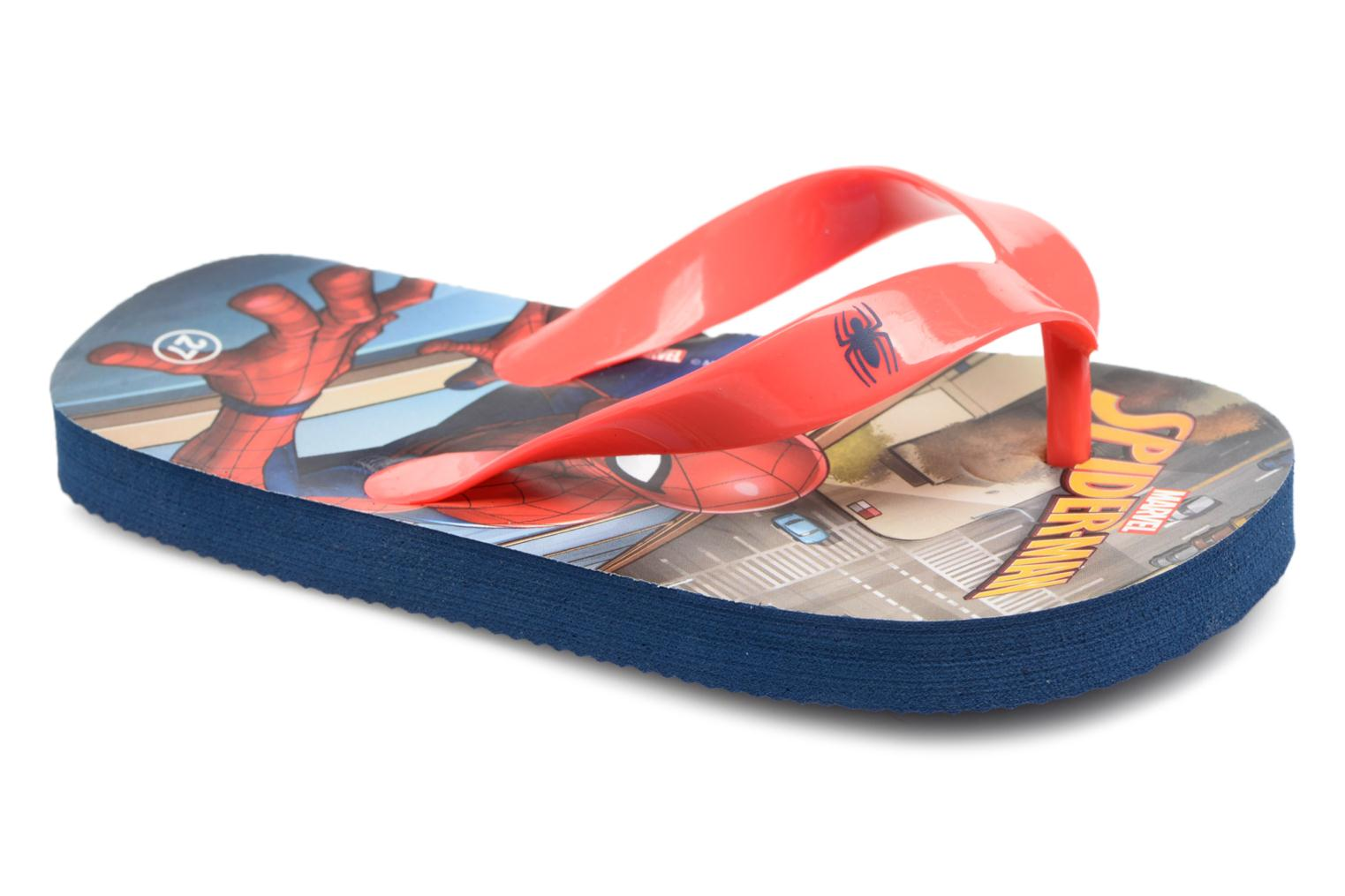 Tongs Spiderman Dispo Rouge vue détail/paire