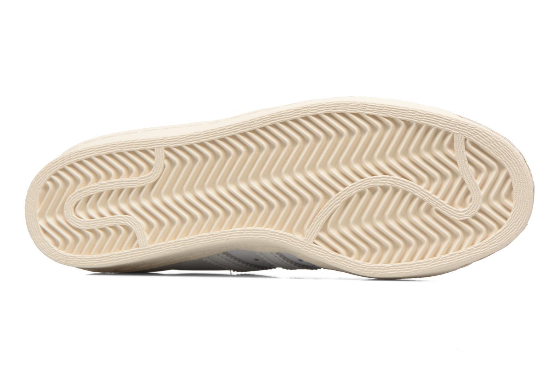 Baskets Adidas Originals SUPERSTAR 80s CORK Blanc vue haut