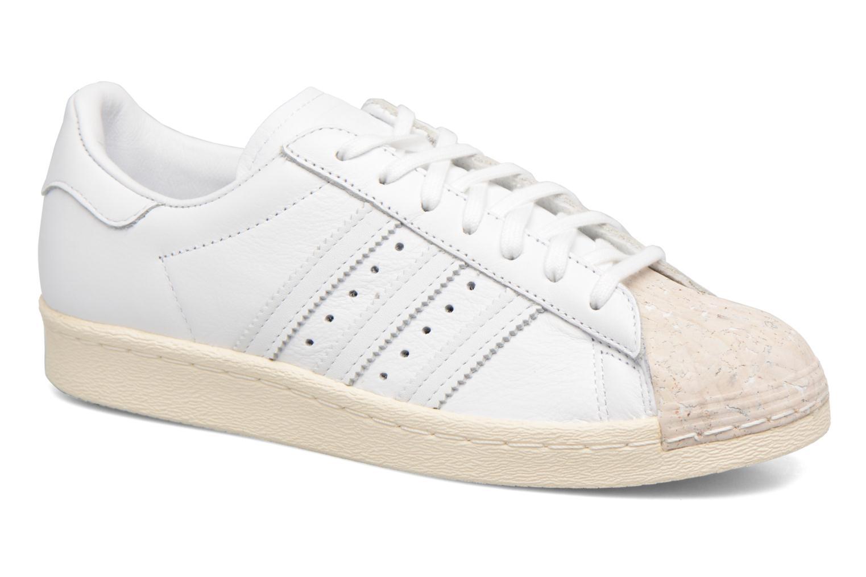 Baskets Adidas Originals SUPERSTAR 80s CORK Blanc vue détail/paire
