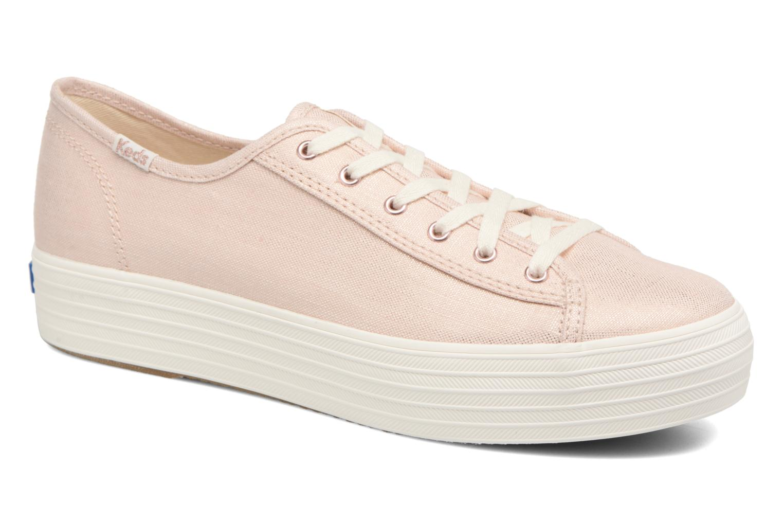 Zapatos promocionales Keds Triple Kick Metallic Linen (Rosa) - Deportivas   Cómodo y bien parecido