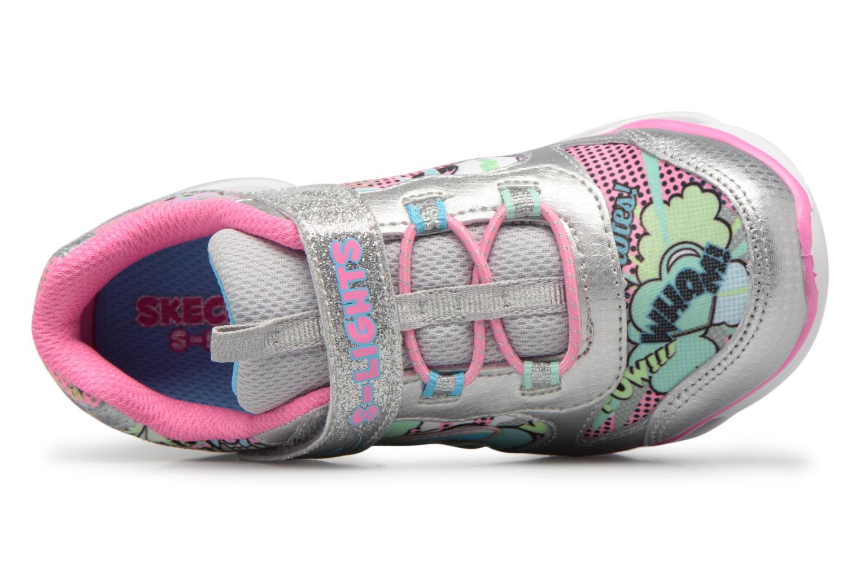 Sportschuhe Skechers Lumi-Luxe silber ansicht von links