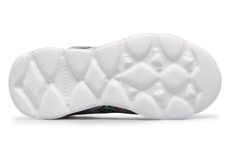 Sportschuhe Skechers Lumi-Luxe silber ansicht von oben
