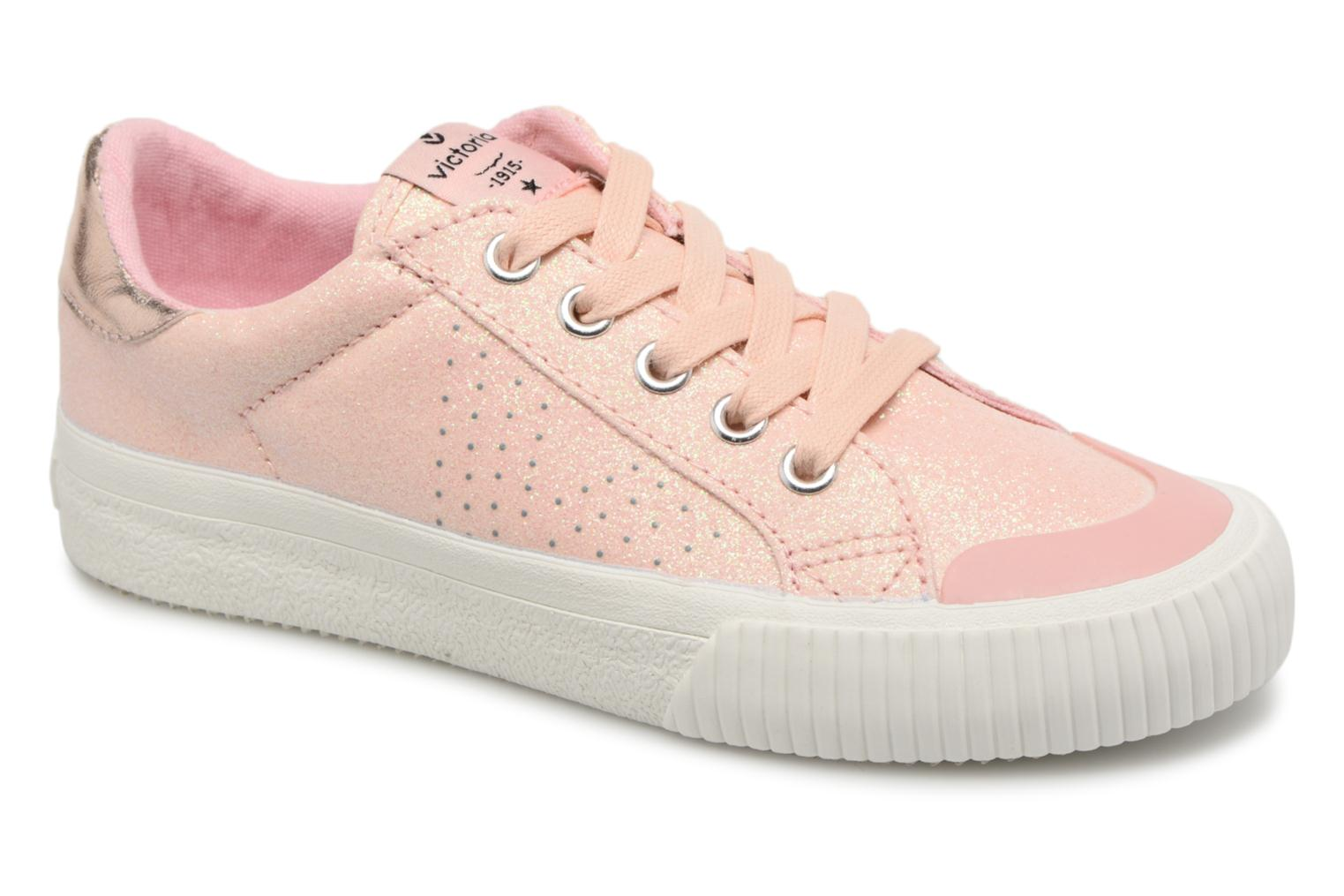 Trainers Victoria Deportivo Glitter Fino Pink detailed view/ Pair view