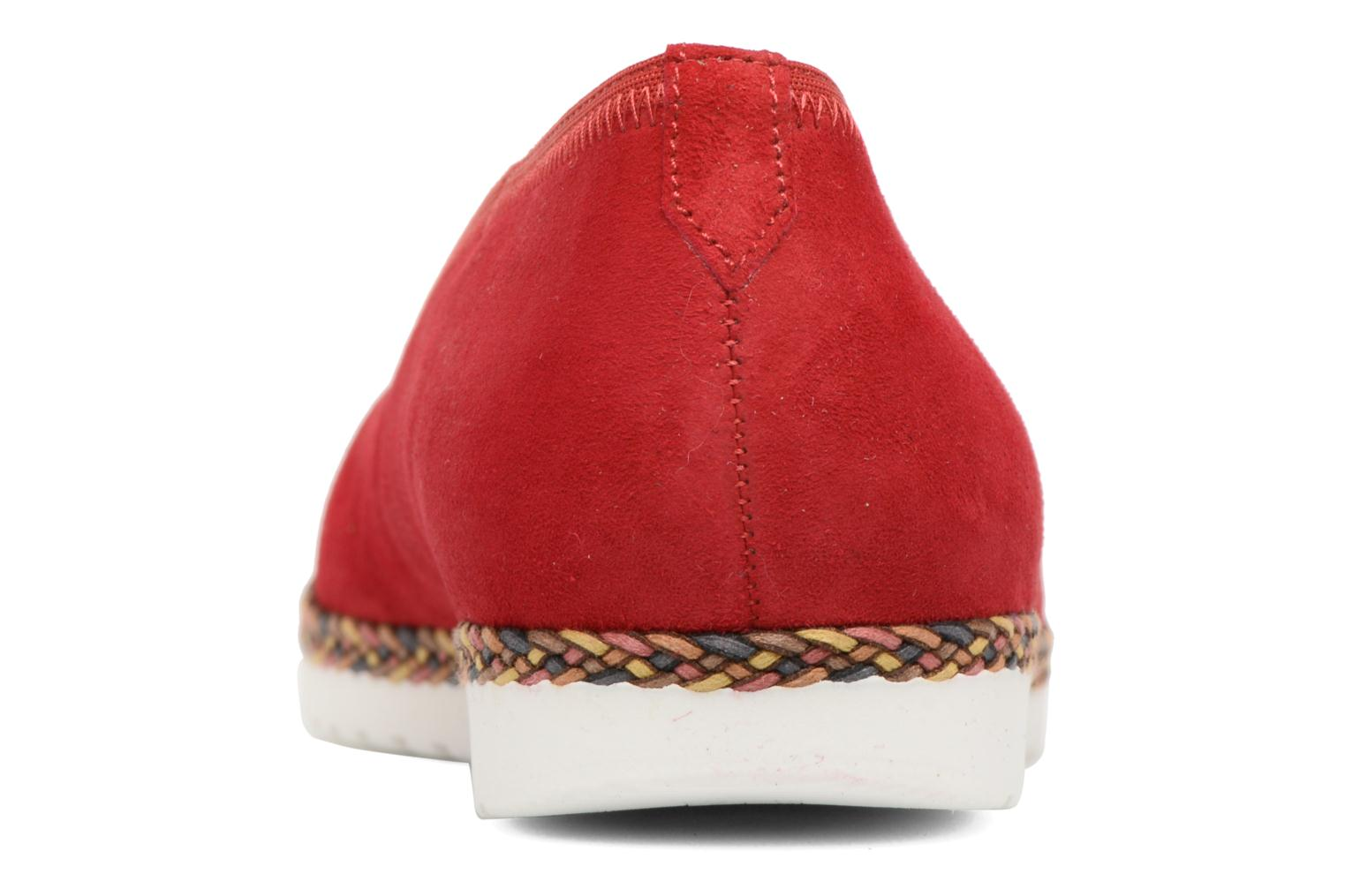Ballet pumps Gabor Catania Red view from the right