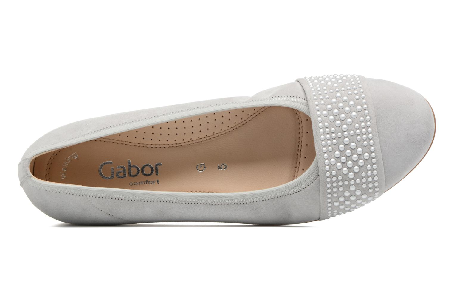 Ballet pumps Gabor Cesena Grey view from the left