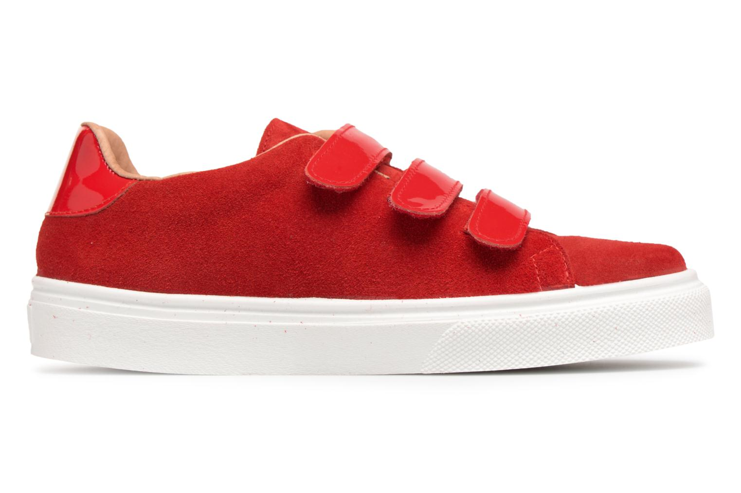Marques Chaussure femme Made by SARENZA femme Busy Girl Basket #1 Cuir Velours Rouge / Scratch Vernis Rouge
