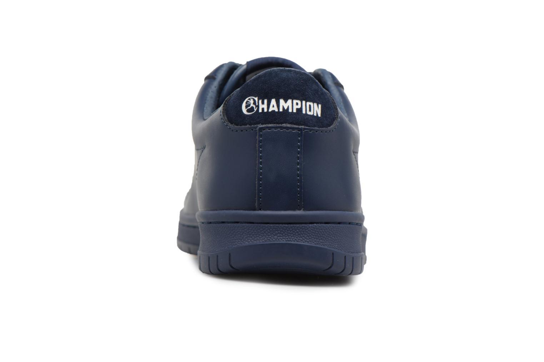 Baskets Champion Low Cut Shoe 919 LOW PATCH LEATHER Bleu vue droite