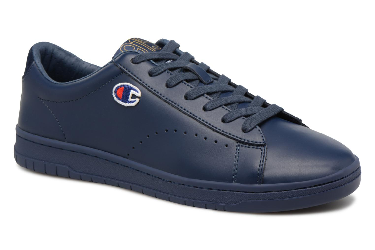 Champion Low Cut Shoe 919 LOW PATCH LEATHER (Bleu) - Baskets chez Sarenza (322033)