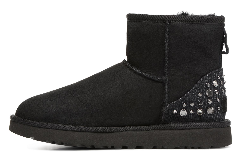 Bottines et boots UGG Mini Studded Bling Noir vue face