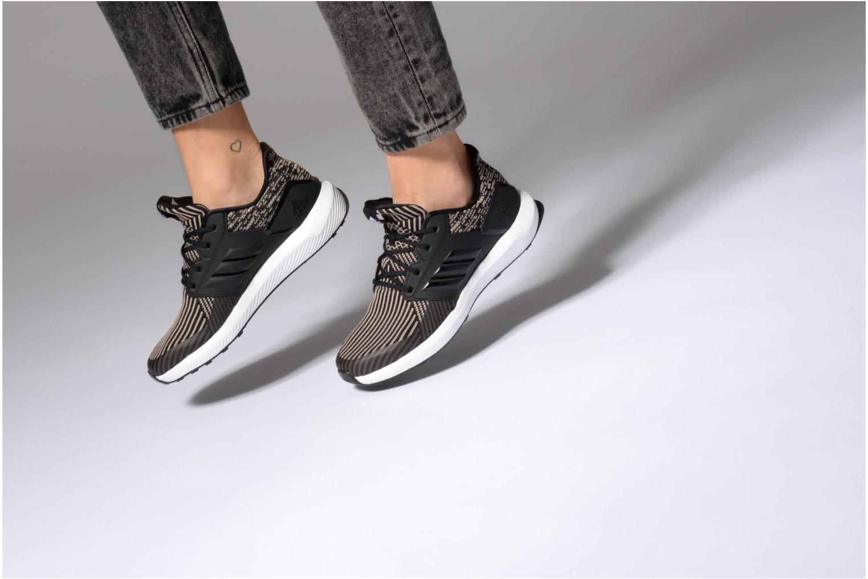 Chaussures de sport Adidas Performance Rapidarun KNIT J Noir vue bas / vue portée sac
