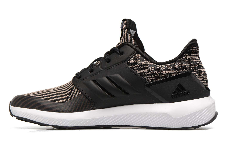 Chaussures de sport Adidas Performance Rapidarun KNIT J Noir vue face