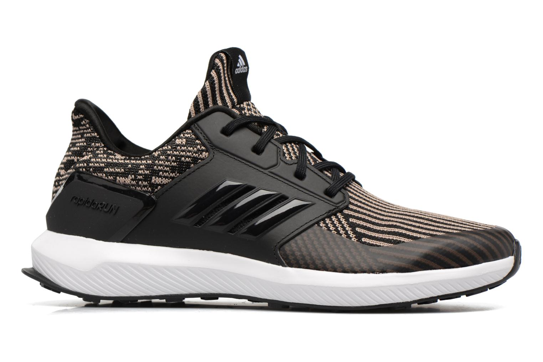 Chaussures de sport Adidas Performance Rapidarun KNIT J Noir vue derrière