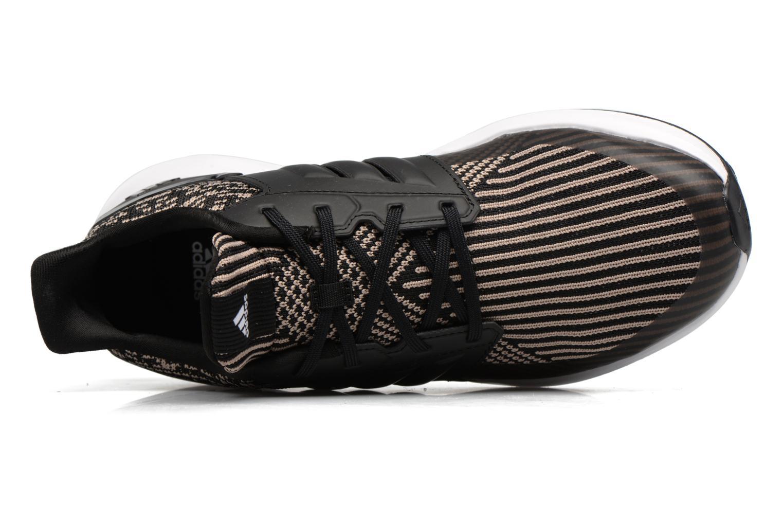 Sportschoenen Adidas Performance Rapidarun KNIT J Zwart links