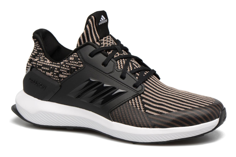 Sportschoenen Adidas Performance Rapidarun KNIT J Zwart detail