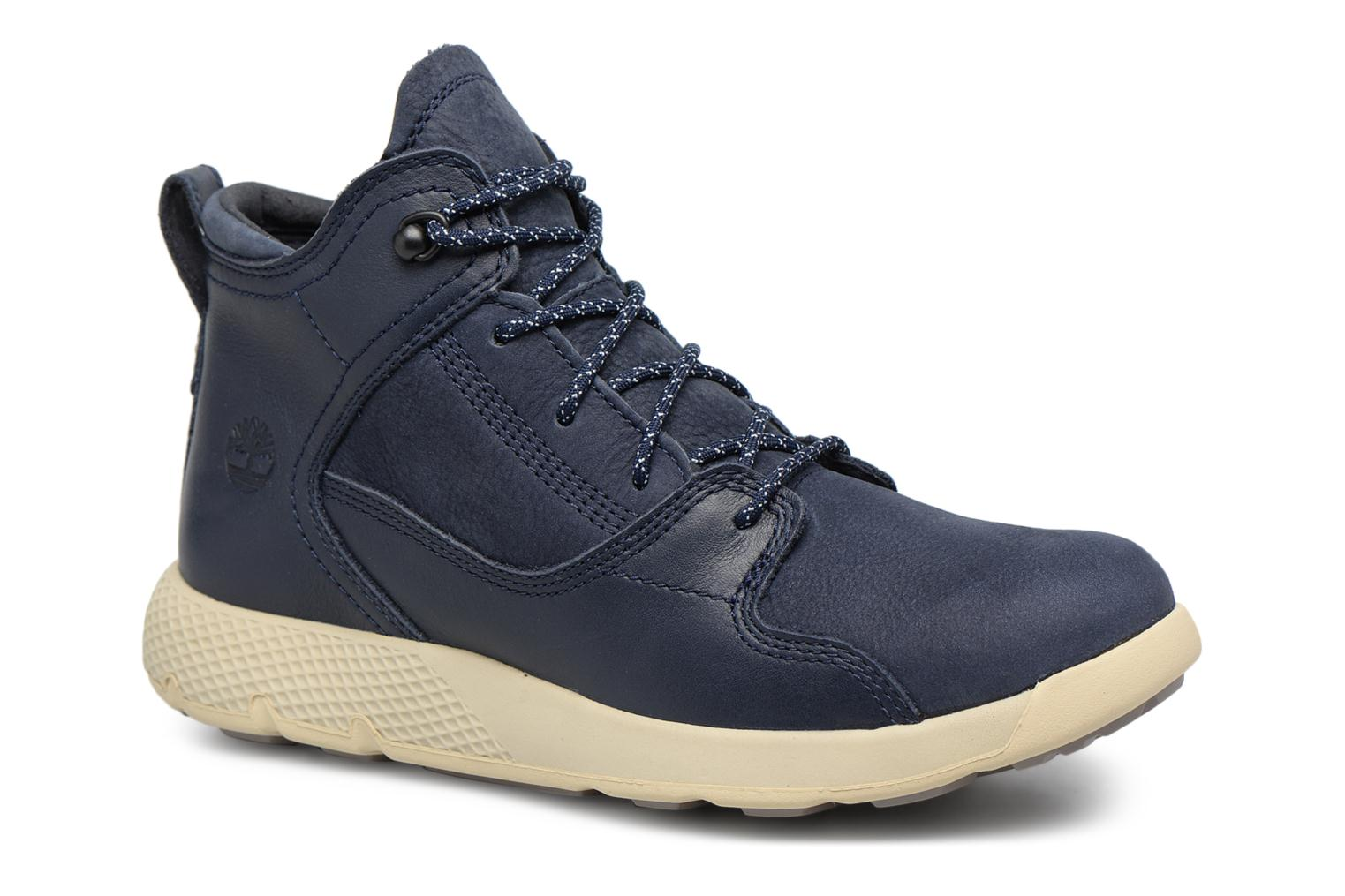Baskets Timberland FlyRoam Leather Hiker Bleu vue détail/paire