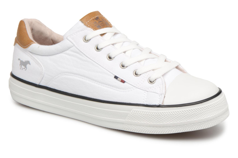 Baskets Mustang shoes Fanchi Blanc vue détail/paire