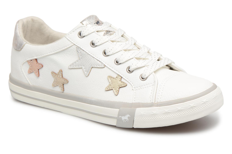 Baskets Mustang shoes Willoti Blanc vue détail/paire
