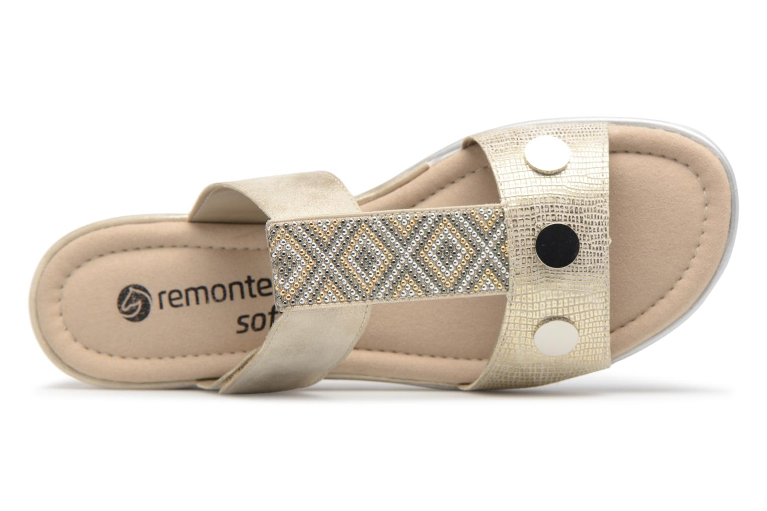 Mules & clogs Remonte Adison D1163 Beige view from the left