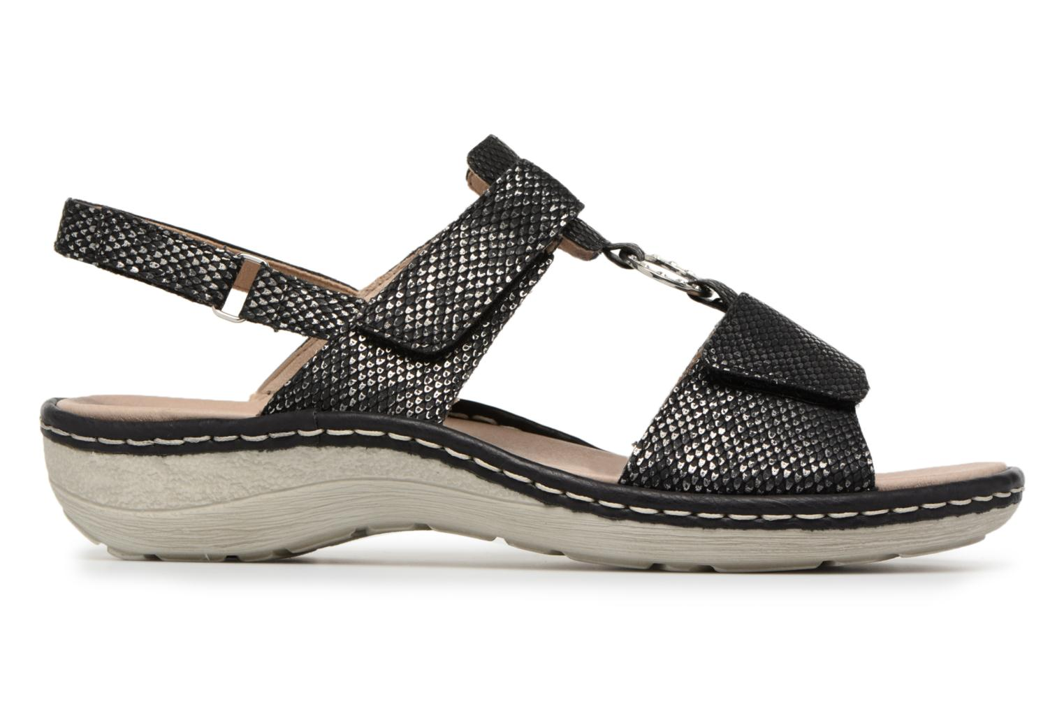 Sandals Remonte Maci D7648 Black back view