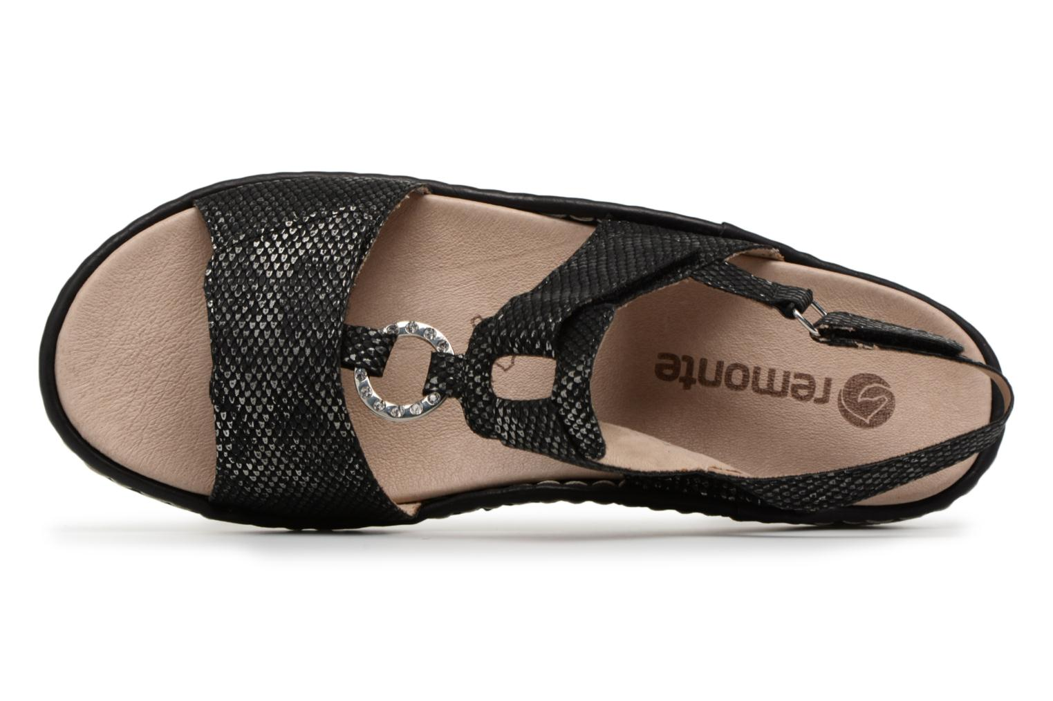 Sandals Remonte Maci D7648 Black view from the left