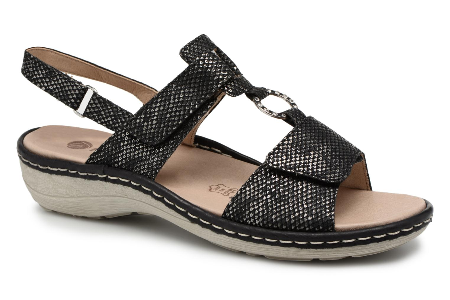 Sandals Remonte Maci D7648 Black detailed view/ Pair view