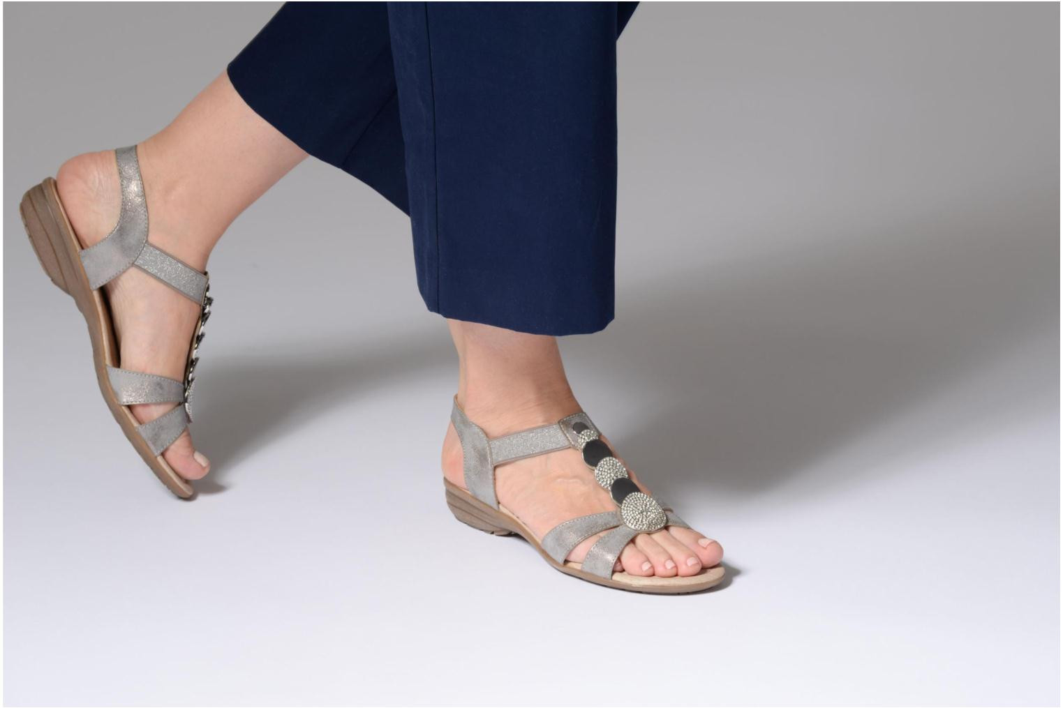 Sandals Remonte Velma R3638 Grey view from underneath / model view