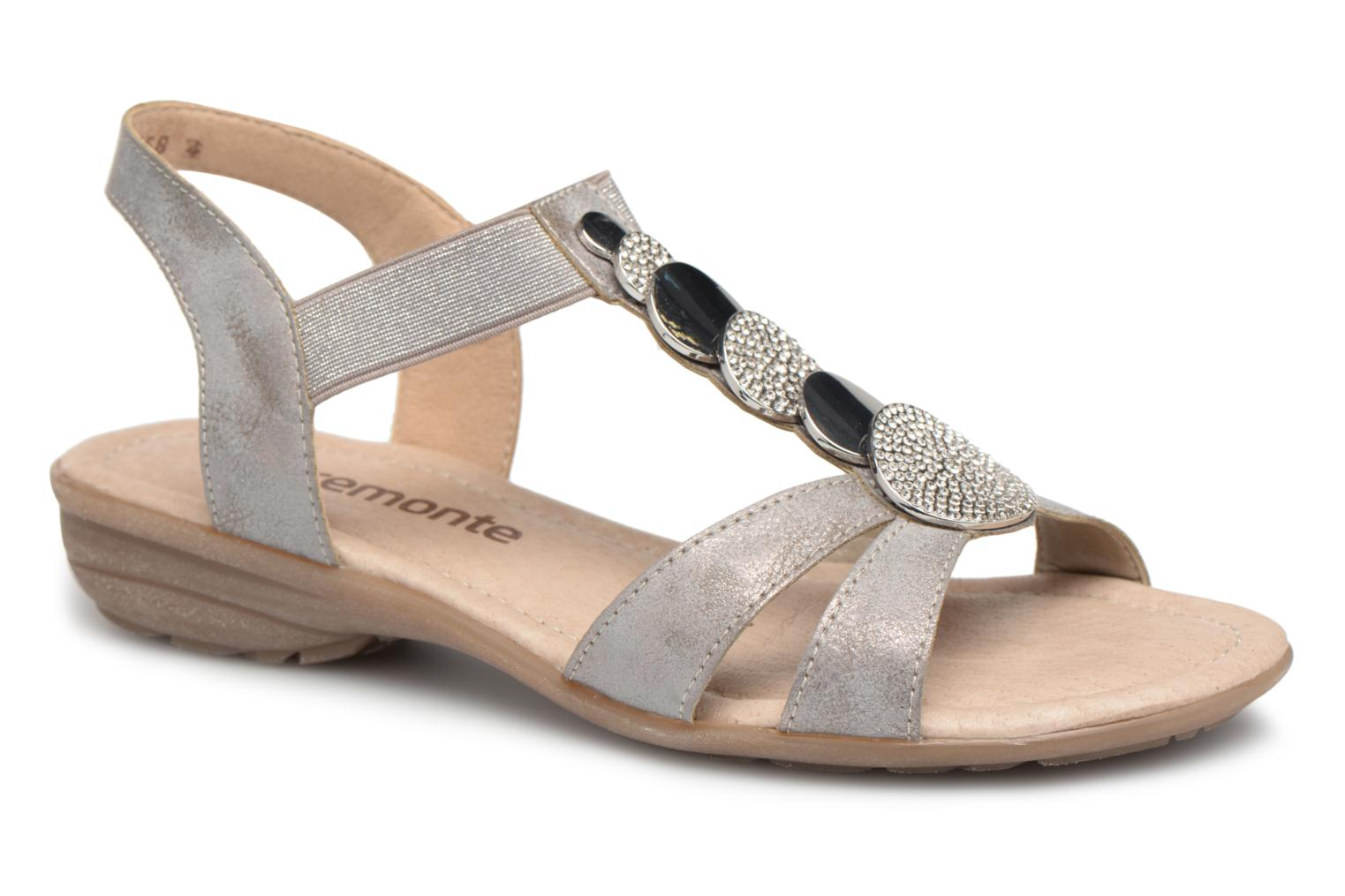 Sandals Remonte Velma R3638 Grey detailed view/ Pair view