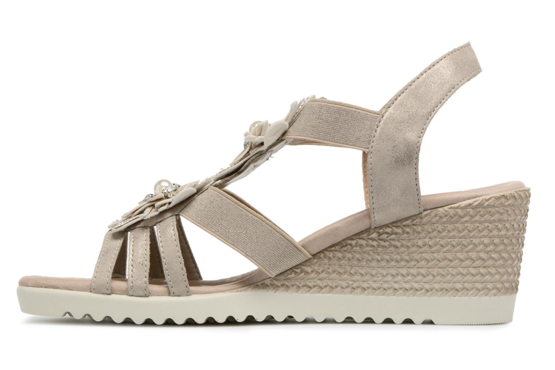 Sandals Remonte Adney D3462 Beige front view