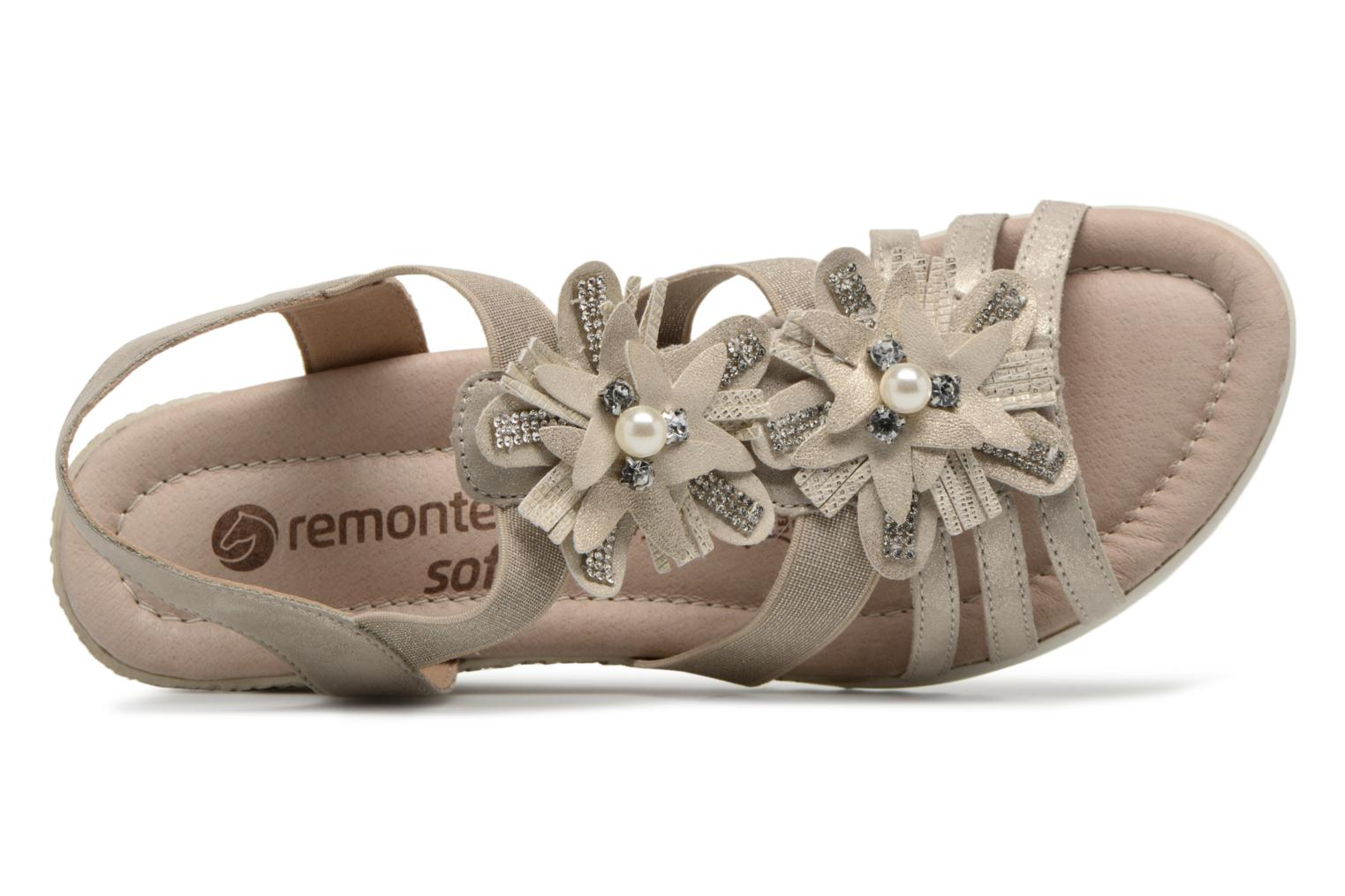 Sandals Remonte Adney D3462 Beige view from the left