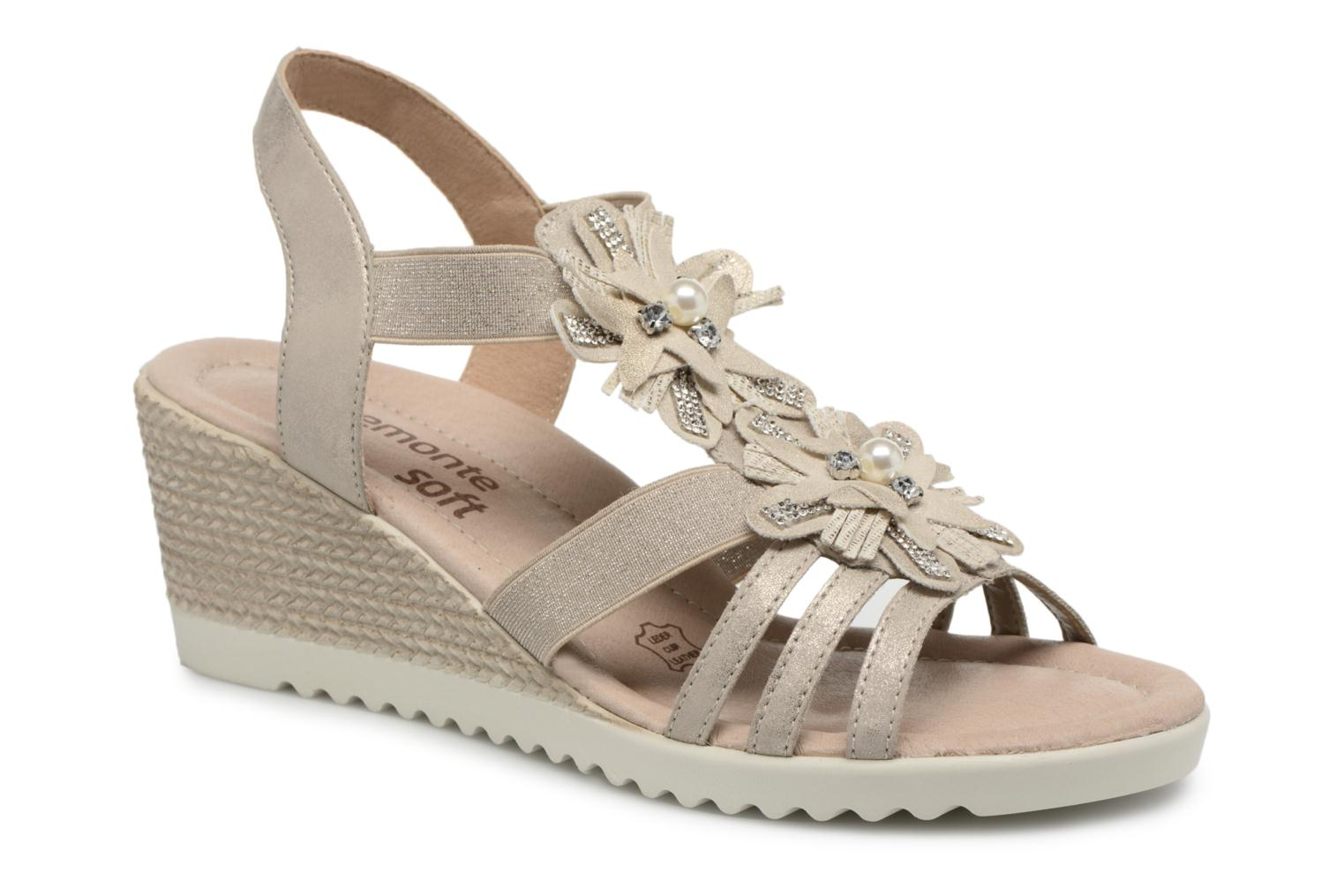 Sandals Remonte Adney D3462 Beige detailed view/ Pair view
