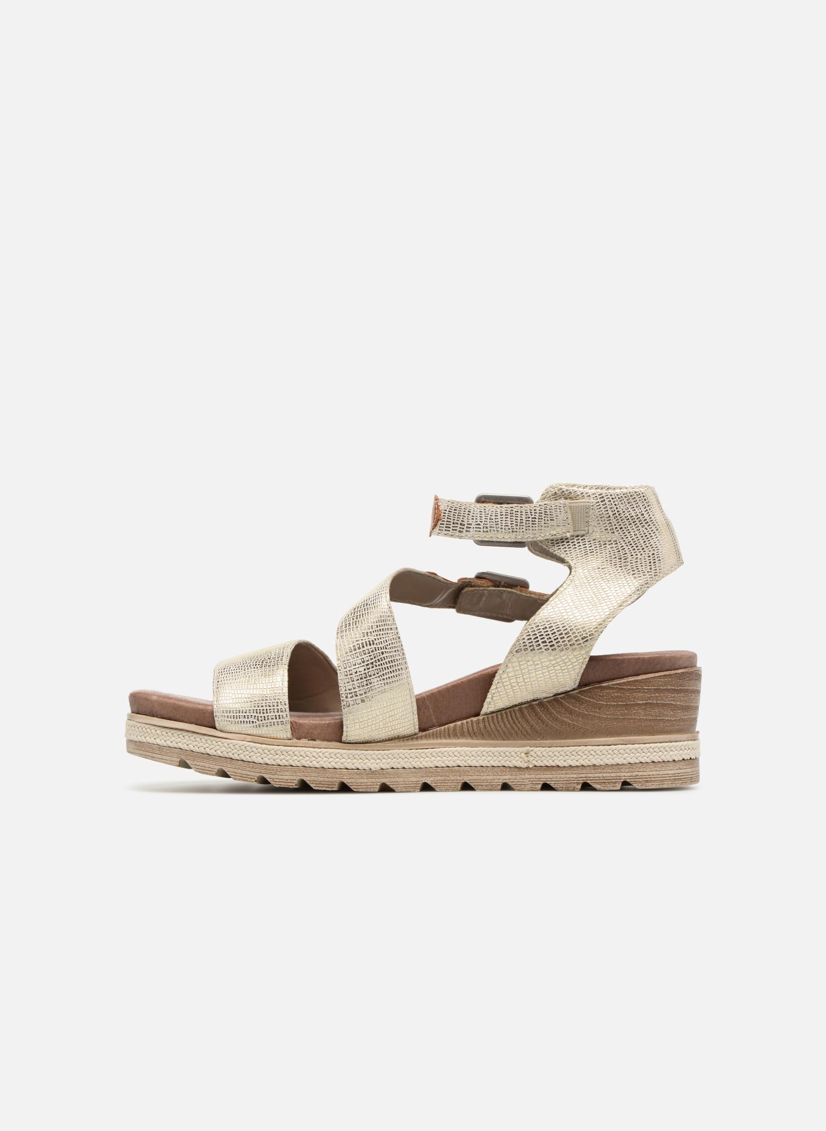 Sandales et nu-pieds Remonte Idal D6351 Beige vue face