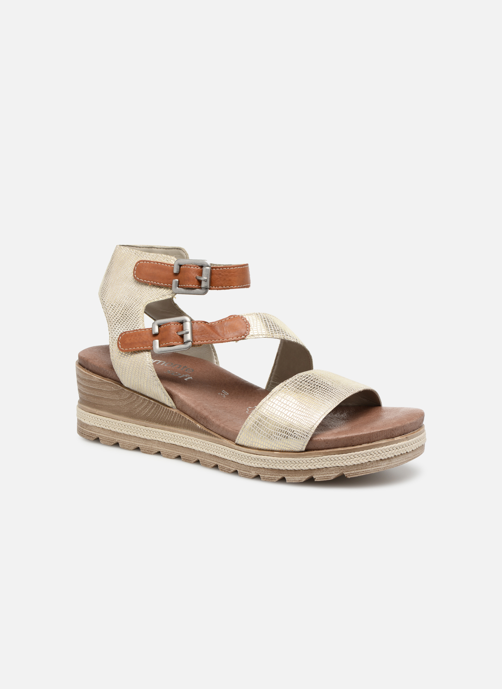 Sandals Remonte Idal D6351 Beige detailed view/ Pair view