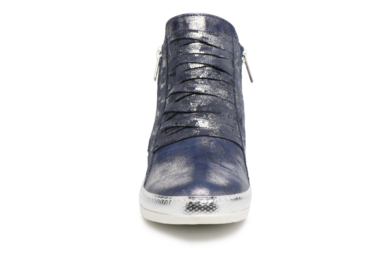 Baskets Khrio Funiba parker blue Bleu vue portées chaussures
