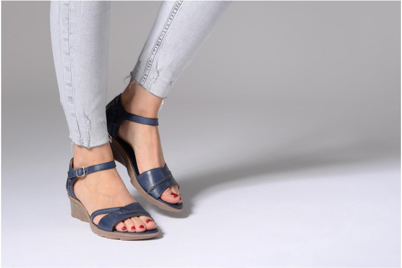 Sandales et nu-pieds Khrio Paorla mohair prussi Bleu vue bas / vue portée sac