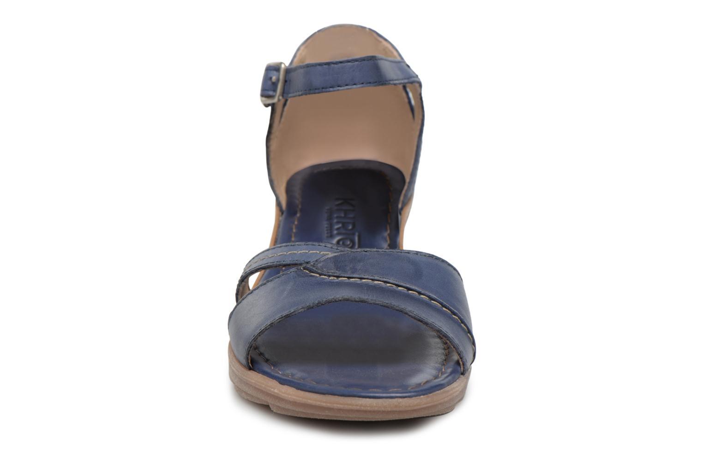 Sandales et nu-pieds Khrio Paorla mohair prussi Bleu vue portées chaussures