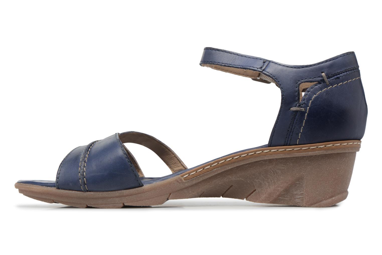 Sandales et nu-pieds Khrio Paorla mohair prussi Bleu vue face