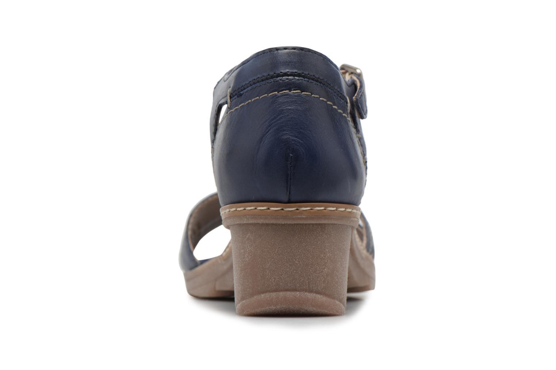 Sandales et nu-pieds Khrio Paorla mohair prussi Bleu vue droite