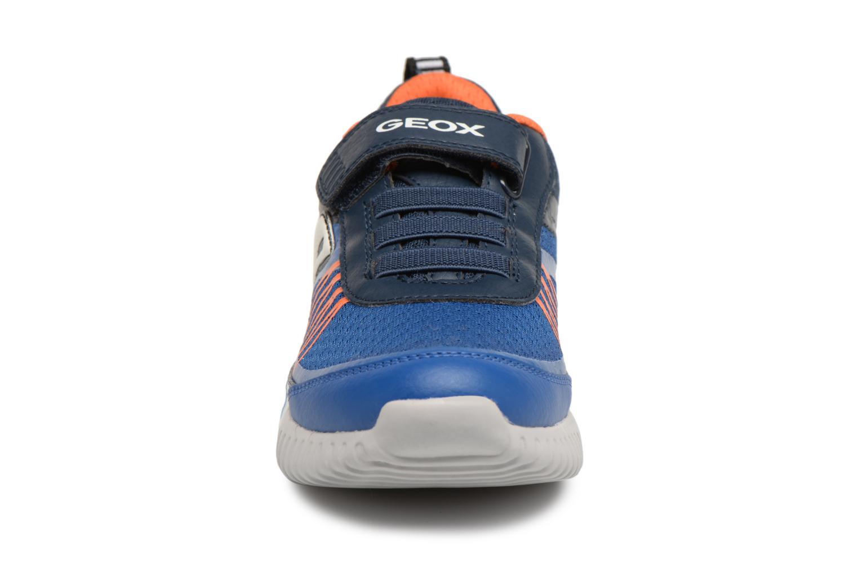 Baskets Geox J Waviness B.C J826Tc Bleu vue portées chaussures