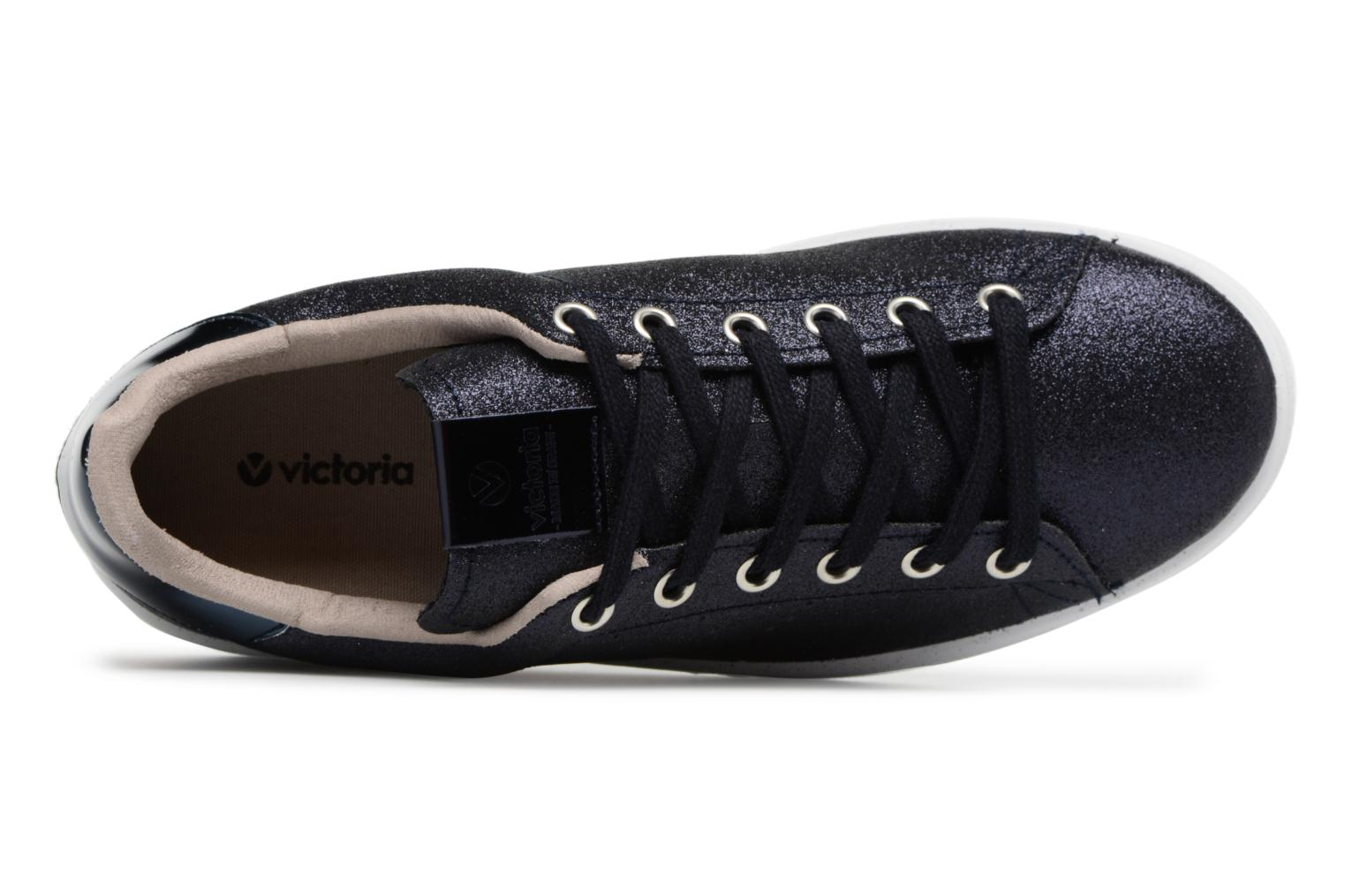 Trainers Victoria Deportivo Glitter Blue view from the left